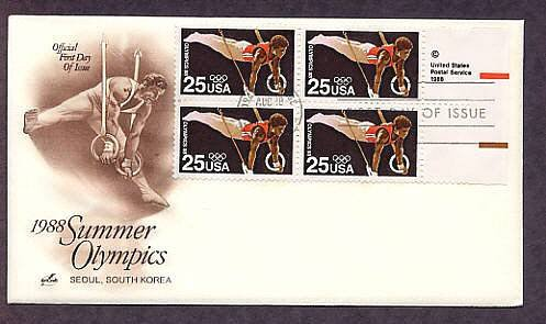 1988 Summer Olympics, Seoul, South Korea, Gymnast on Rings, First Issue USA