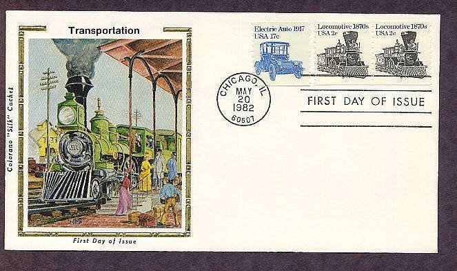 Steam Locomotive 1870s, Railroad, The American Express Train, First Issue USA