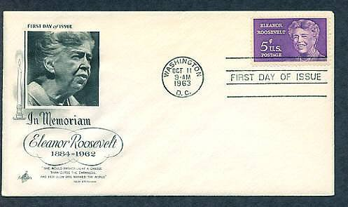 "In Memoriam ""First Lady of the World"" Eleanor Roosevelt, 1963 First Issue USA"
