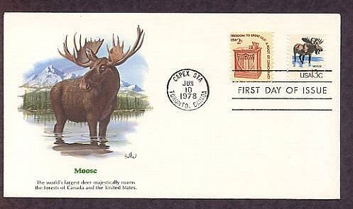Moose, Wildlife that Shares the Border Between Canada and the USA First Issue