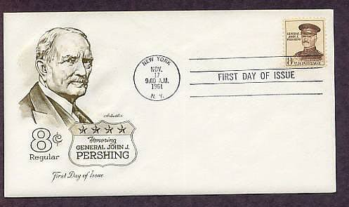 Honoring General John J. Pershing, General of the Armies, WW1 First Issue USA