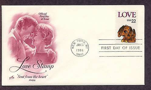 Love Postage Stamp, Puppy, 1986 USPS USA