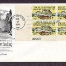 150th Anniversary of Fort Snelling, Great Northwest, Plate Block First Issue FDC USA
