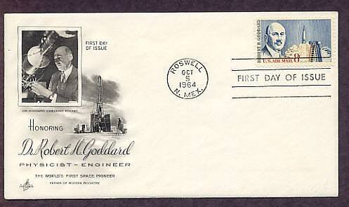 Robert Goddard, Rocket Science, Roswell, New Mexico, First Issue USA