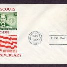 Honoring Girl Scouts of America, Achievement Patches, First Issue 1987 FDC USA