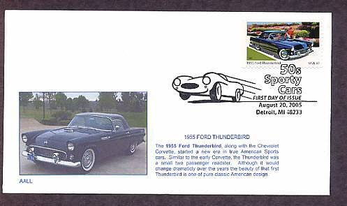 1955 Ford Thunderbird, First Issue, Detroit, Michigan FDC USA