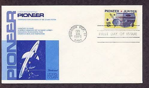 NASA Pioneer 10 Space Mission to Jupiter First Issue 1975 USA