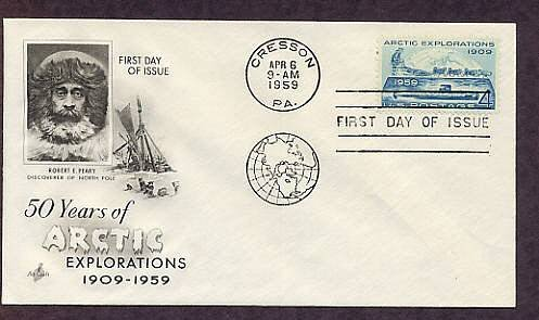 Arctic Explorations, USS Nautilus Submarine Under the North Pole, First Issue 1959 USA