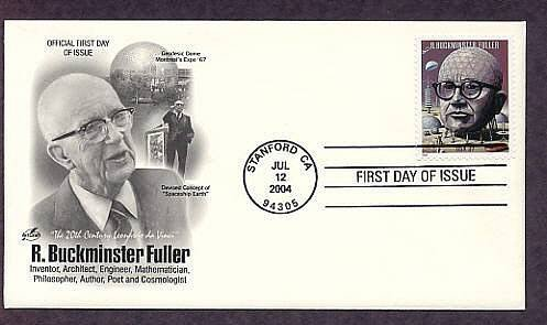 USPS Honoring R. Buckminster Fuller, Geodesic Dome, Architecture, First Issue USA
