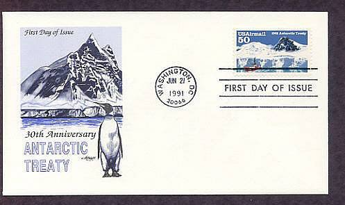 30th Anniversary of Antarctic Treaty for Peaceful Uses in the Region, First Issue USA