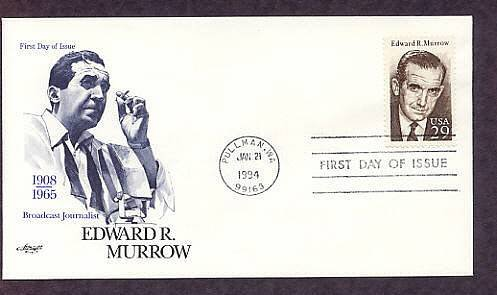 Honoring Edward R. Murrow, Broadcast Journalist, AM, First Issue USA