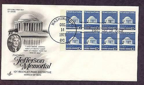 President Thomas Jefferson Memorial Washigton, DC First Issue USA