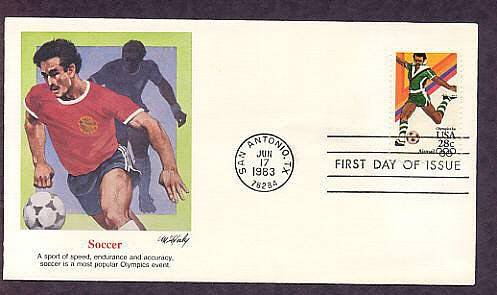 Summer Olympics 1984 Soccer, First Issue USA