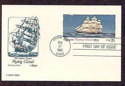 USPS The Yankee Clipper Flying Cloud, 1852, First Issue USA