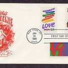 Love Postage Stamps Valentine Cupid Combination First Issue USPS USA