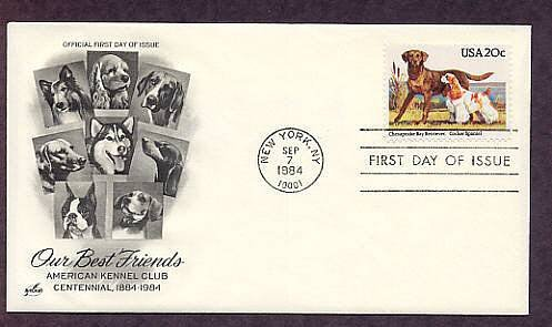 Chesapeake Bay Retriever, Cocker Spaniel, American Kennel Club Centennial First Issue