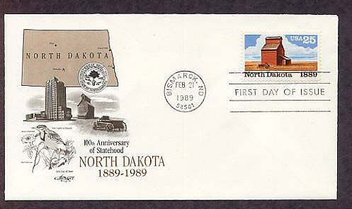 Centennial North Dakota Statehood, Grain Elevator, First Issue USA