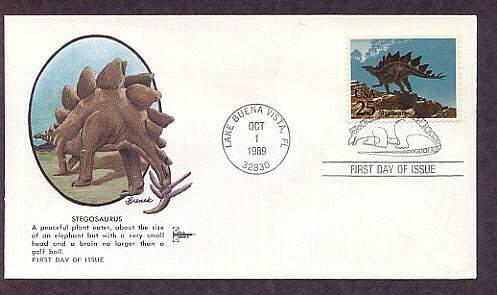 Prehistoric Animals, Dinosaurs, Stegosaurus, First Issue USA