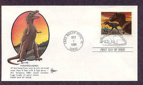 Prehistoric Animals, Dinosaurs, Tyrannosaurus, First Issue USA