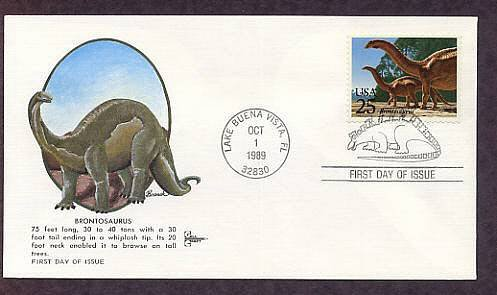 Prehistoric Animals, Dinosaurs, Brontosaurus, First Issue USA