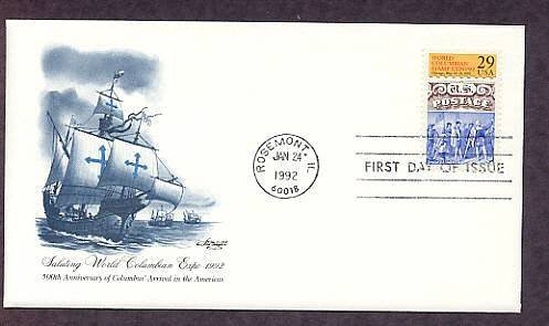 Anniversary Christopher Columbus Arrival in the Americas, First Issue USA