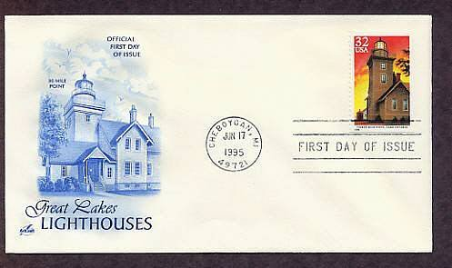 Great Lakes Lighthouses, Thirty Mile Point, Lake Ontario, Michigan First Issue USA