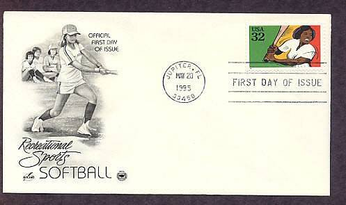 U.S. Stamp Recognizing Softball First Issue USA