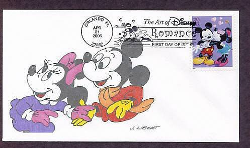 Walt Disney Art, Mickey Mouse, Minnie, First Issue FDC USA