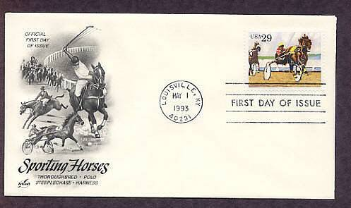 Harness Racing, Sport Horses, Sulky and Driver First Issue USA