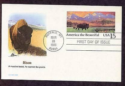 American Bison, Buffalo, Buffalo, Wyoming, First Issue USA