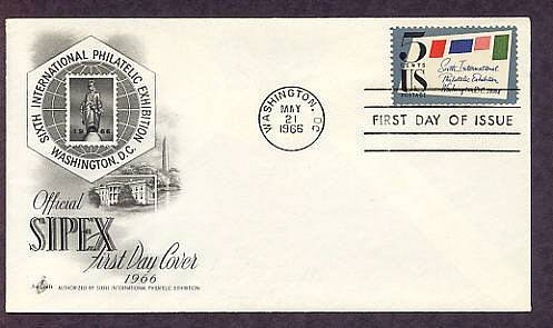 SIPEX, Sixth International Philatelic Exhibition 1966 First Issue USA