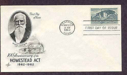100th Anniversary of the Homestead Act, Sod Hut, First Issue USA