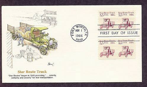 Star Route Truck 1910s, Early Mail Transportation, First Issue USA