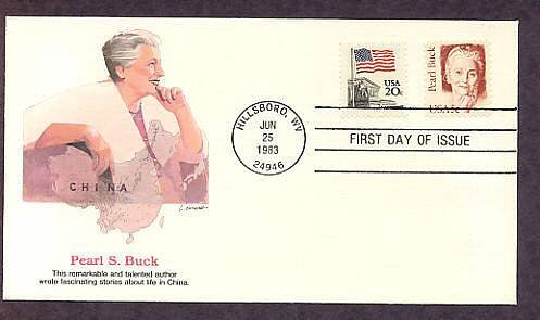 Pearl S. Buck, Nobel and Pulitzer Prize Winner, Writer of Life in China, First Issue USA