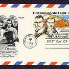 Clyde Pangborn and Hugh Herndon, First Transpacific Flight, Red Bellanca CH-400 Skyrocket FDC