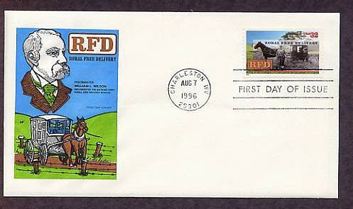 RFD, Rural Free Delivery Centennial, First Issue USA