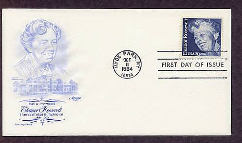 In Memory of Eleanor Roosevelt, Centennial of her Birth, First Issue AM USA