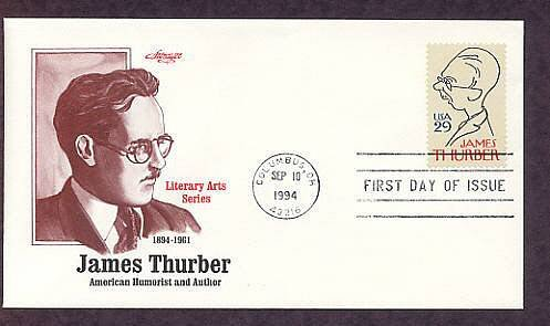 Honoring American Humorist and Cartoonist James Thurber First Issue USA
