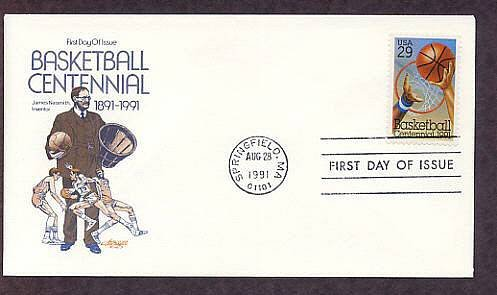 100th Anniversary of Basketball, Dr. James Naismith, First Issue USA