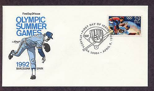 The Acceptance of Baseball as an Official Olympic Sport, Barcelona, Spain, First Issue USA