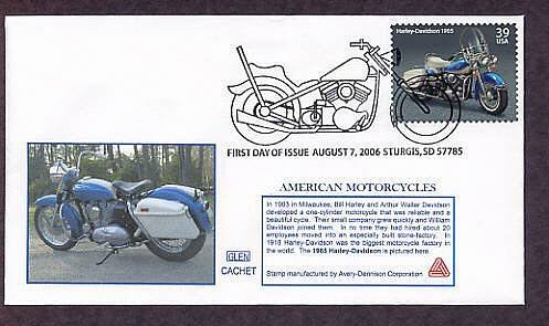 American Motorcycles Harley-Davidson 1965, Sturges, South Dakota First Issue USA