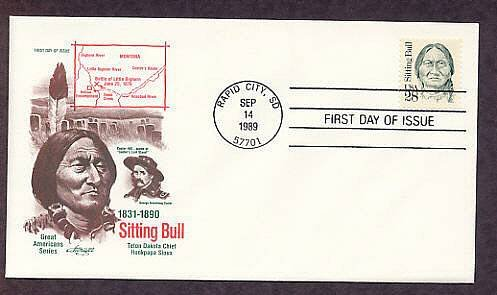 Sioux Chief Sitting Bull Native American Indian First Issue AM FDC USA