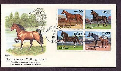 Quarter Horse, Morgan, Saddlebred, Appaloosa, Tennessee Walking Horse, First Issue USA
