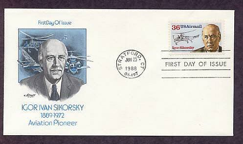 Honoring Igor Sikorsky, Helicopter, Aircraft, First Issue USA
