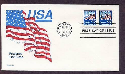 USA Flag, Gamm 1992 FDC