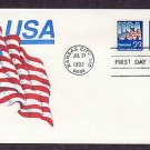 USA Flag, Gamm 1992 FDC