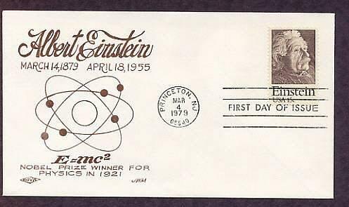 Albert Einstein, Nobel Prize Winner, Science, First Issue FDC Nova USA