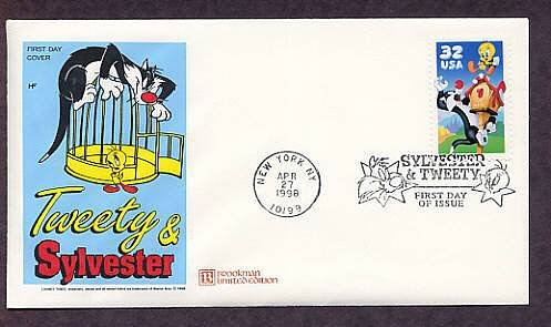 Warner Brothers Classic Animated Cartoon Characters Sylvester the Cat & Tweety Bird First Issue USA