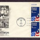 Honoring the Peace Corps, 1972 First Issue FDC Plate Block USA USA