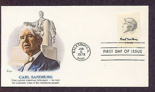 Honoring Carl Sandburg, American Poet, First Issue USA